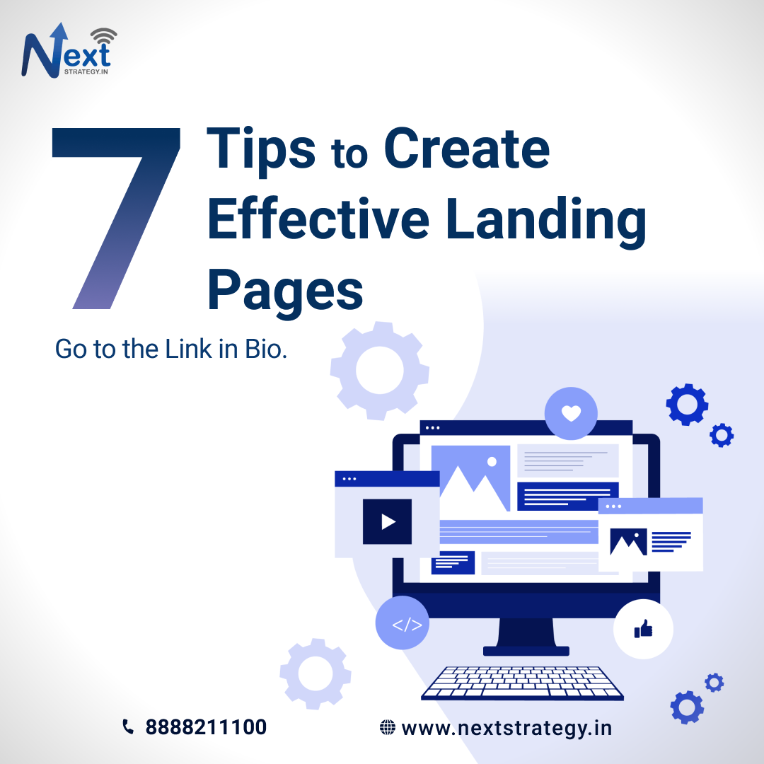 7 great tips to create effective landing pages - Nextstrategy.in